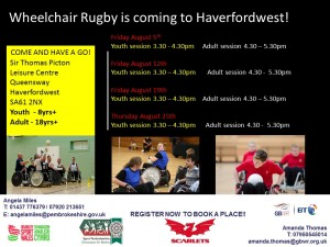 Haverfordwest taster sessions August 2016