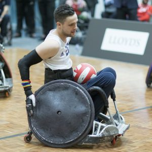 LONDON - UK - 23rd Nov- 2017. A fundraising reception for the Great Britain Wheelchair Rugby team hosted by Lloyd's at their headquarters in London. Photo by Ian Jones for Lloyd's